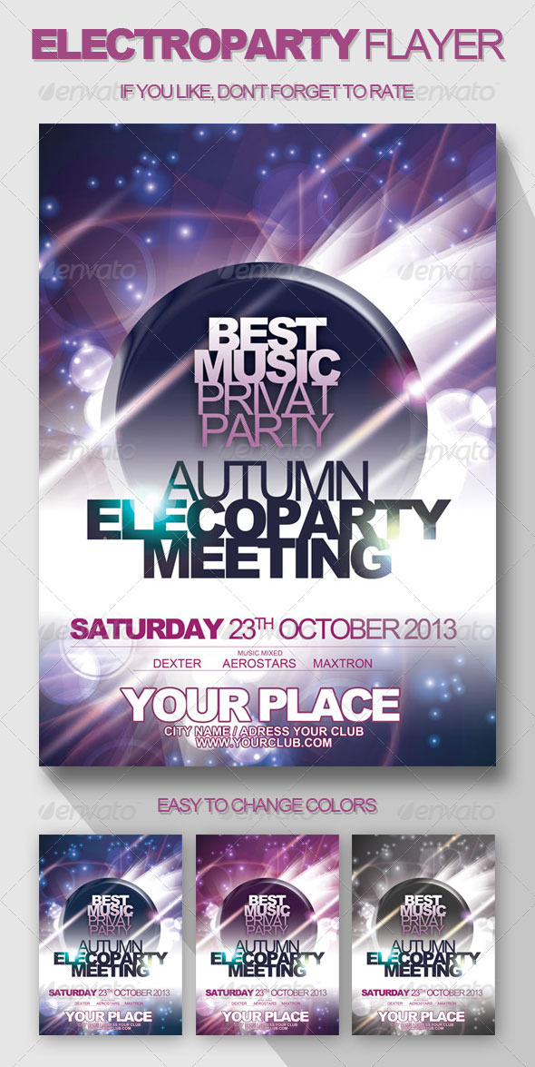 ElectroParty Flyer - Clubs & Parties Events