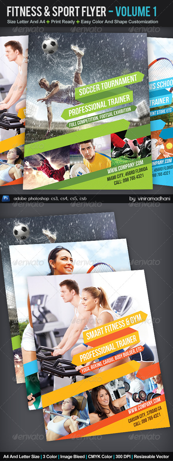 GraphicRiver Fitness And Sport Flyer Volume 1 5571801