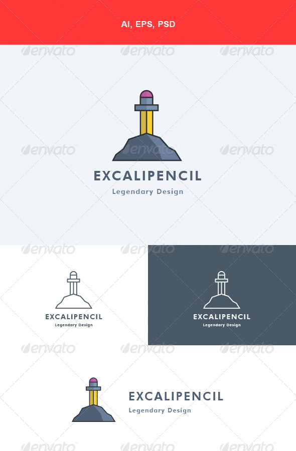 GraphicRiver Excalipencil Logo 5571836