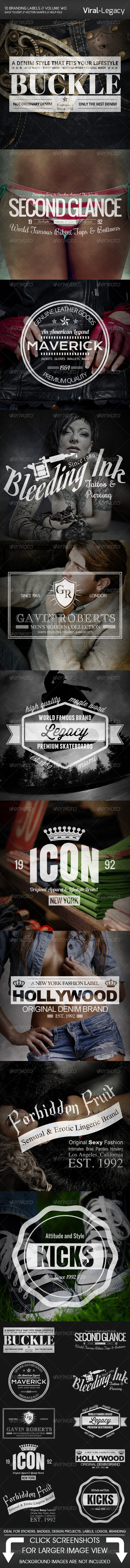 GraphicRiver 10 Branding Labels Volume Two 5572135