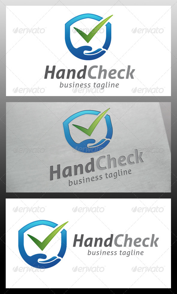 GraphicRiver Hand Shield Logo Template 5572345