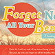 Forget Not All Your Benefits Church Flyer Template - GraphicRiver Item for Sale