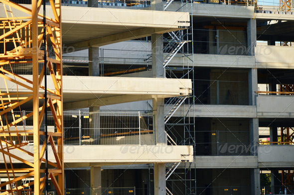 Construction of modern urban commercial architecture