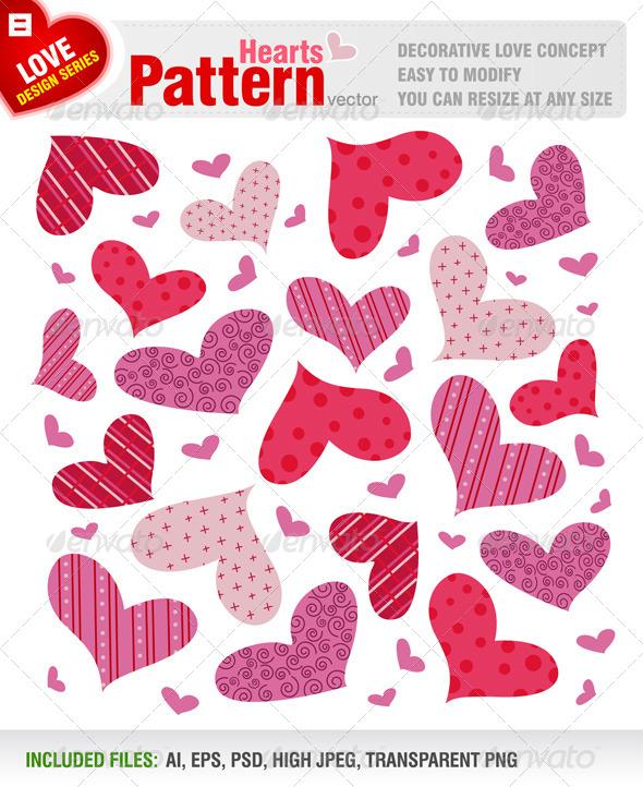 GraphicRiver Hearts Pattern 5573070