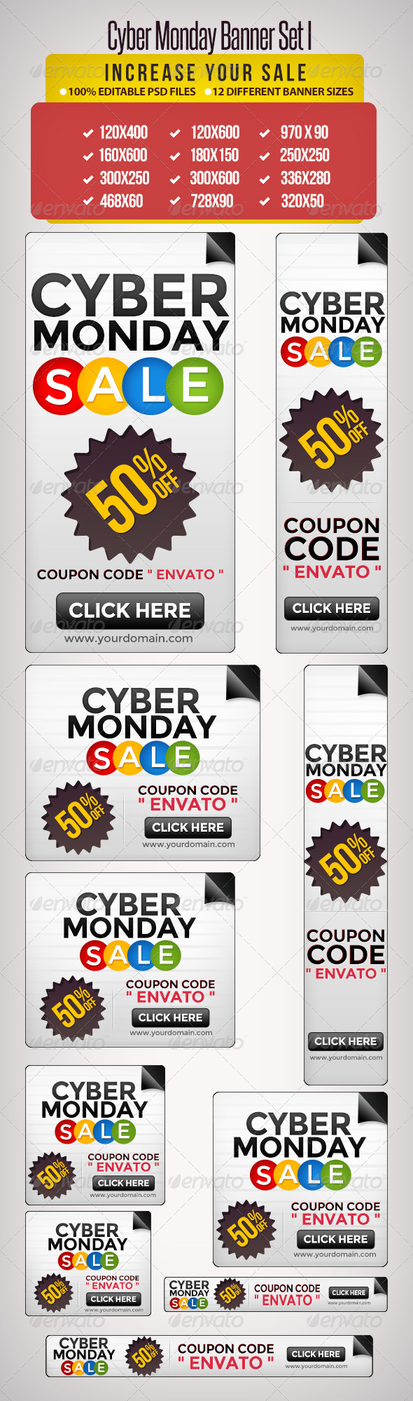 GraphicRiver Cyber Monday Banners Set I 5573104