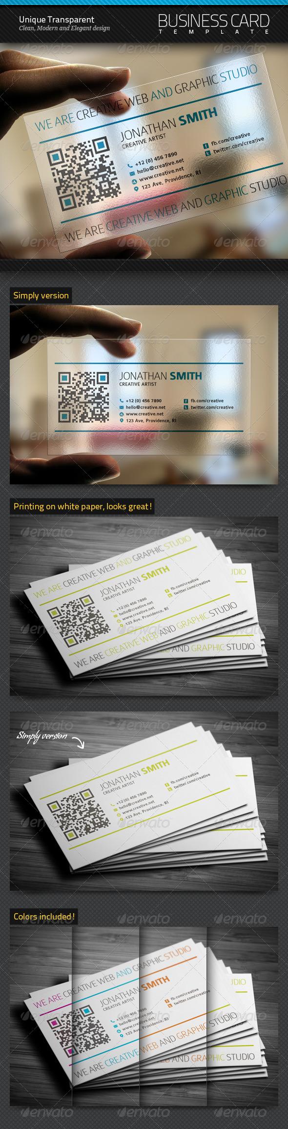 GraphicRiver Unique Transparent Business Card 5573112