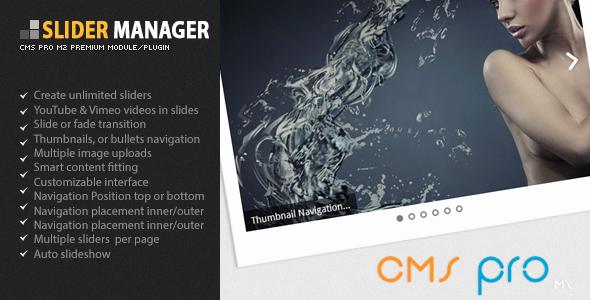 CodeCanyon Slider Manager 5573250