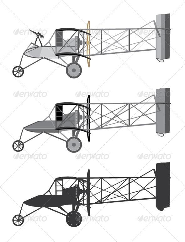 GraphicRiver Model Airplane Retro Biplane 5573541