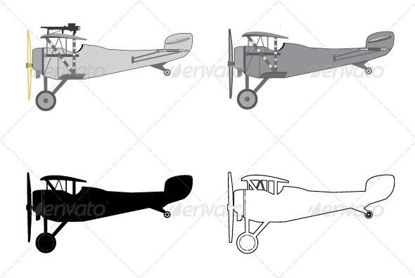 GraphicRiver Model Airplane Retro Biplane 5573547