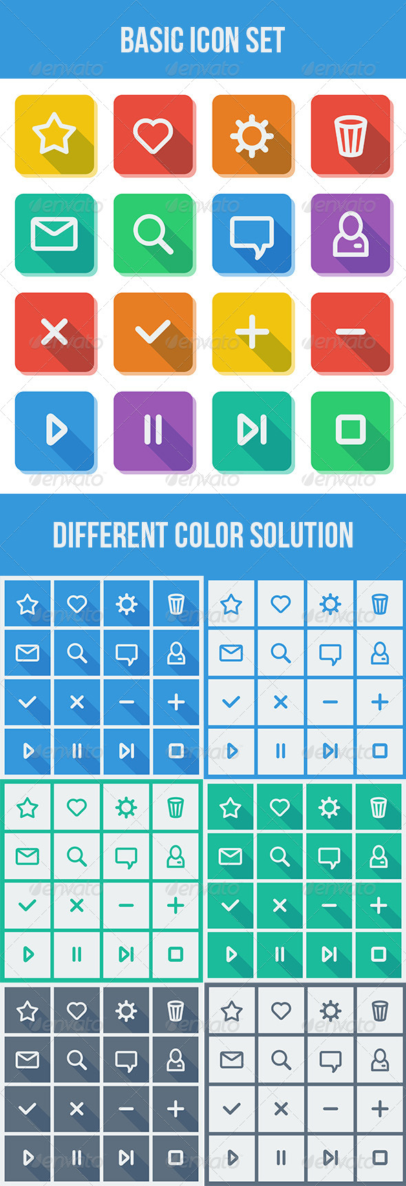 GraphicRiver Basic Icon Set 5573734