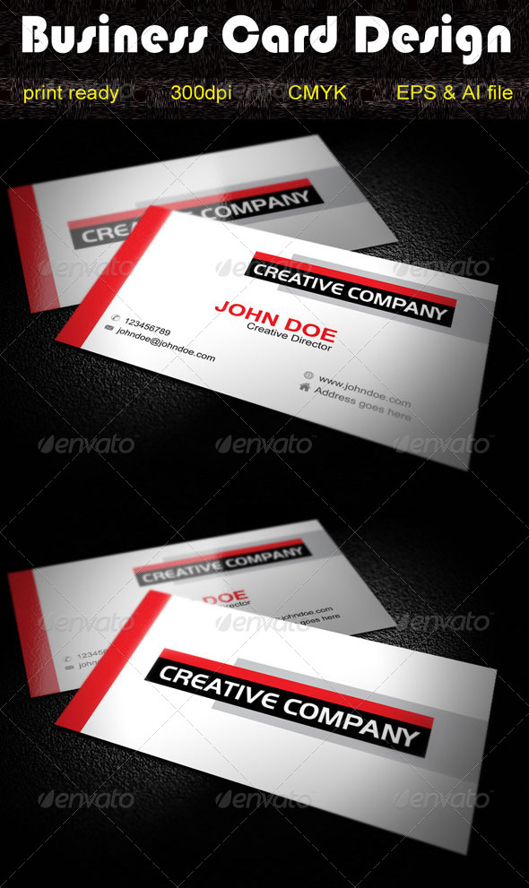 GraphicRiver Simple Business Card Design 5545548