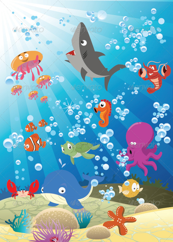 GraphicRiver Sea Animals 5424385
