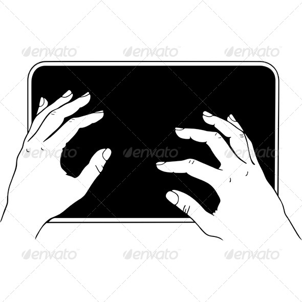 GraphicRiver Typing on the Tablet PC 5574862