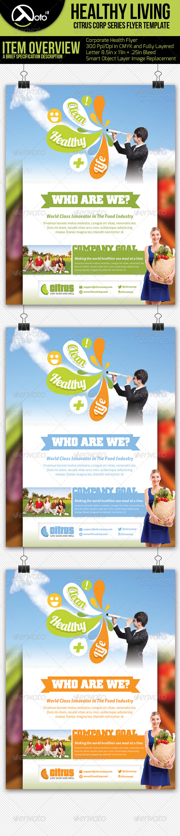 GraphicRiver Healthy Living Flyers 5575403