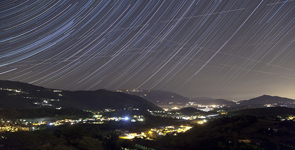 VideoHive Star Trails over Valley 2 Pack 5575563