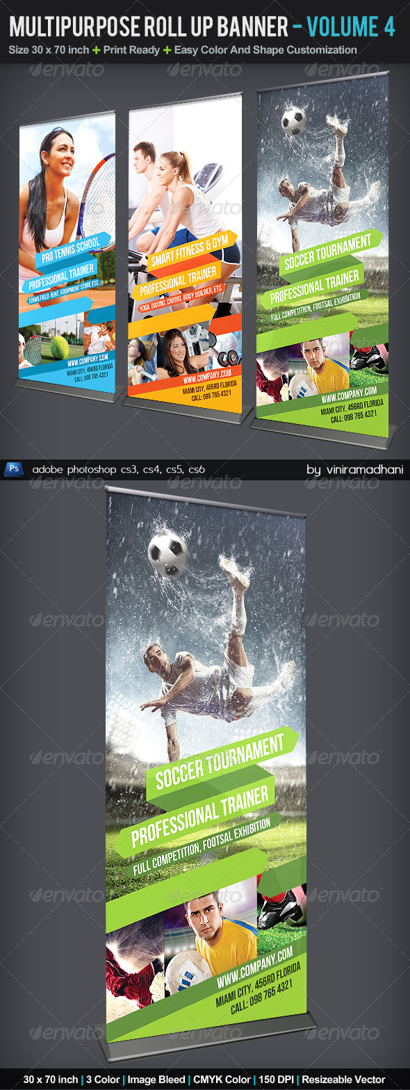 GraphicRiver Multipurpose Roll Up Banner Volume 4 5575850