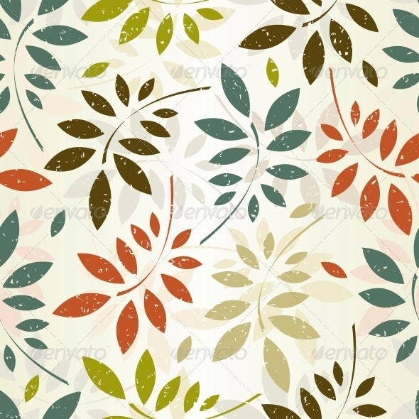 GraphicRiver Seamless Leaves Wallpaper 5575962