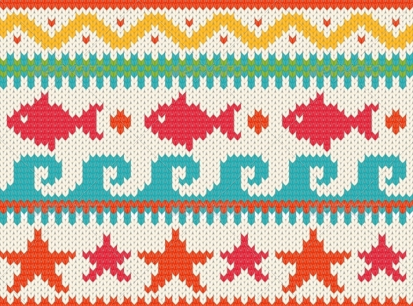 GraphicRiver Knitted Beach Pattern 5576006