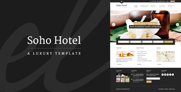 ThemeForest Soho Hotel Responsive Hotel Booking WP Theme 5576098