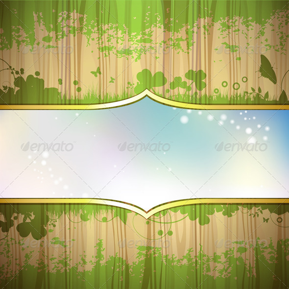 GraphicRiver Wood Window and Sky 5576241