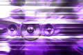 Purple music speakers and party lights - PhotoDune Item for Sale
