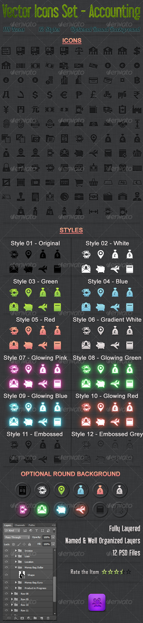 118 Vector Icons Accounting