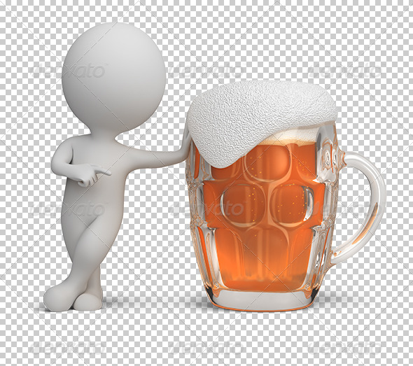 GraphicRiver 3D Small People Beer 5576292