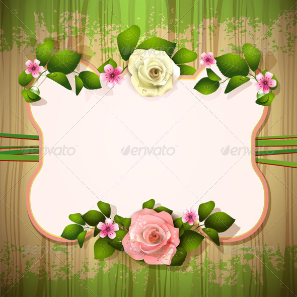 GraphicRiver Mirror with Roses 5576402