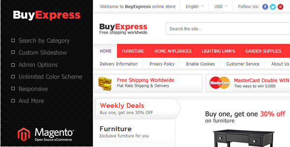 01 screenshot - Apparel Store Magento theme