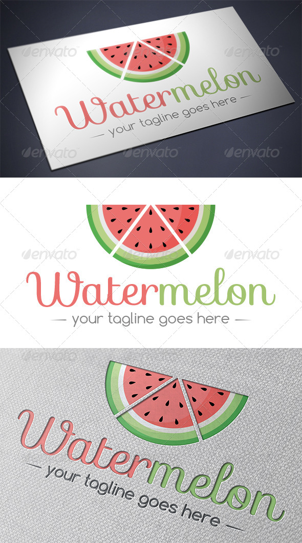 GraphicRiver Watermelon Logo 5576966