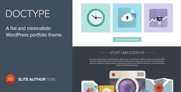 Theme de WordPress de Portfolio Simple: Doctype