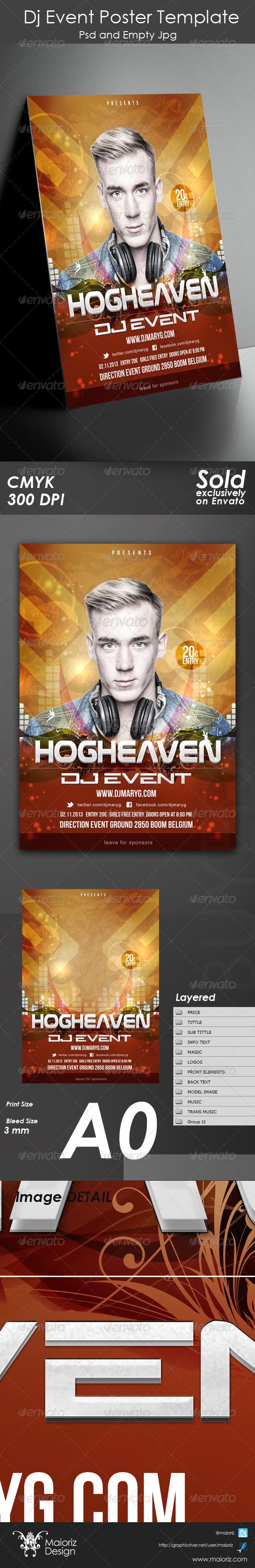 GraphicRiver Dj Event Poster Template 5576994