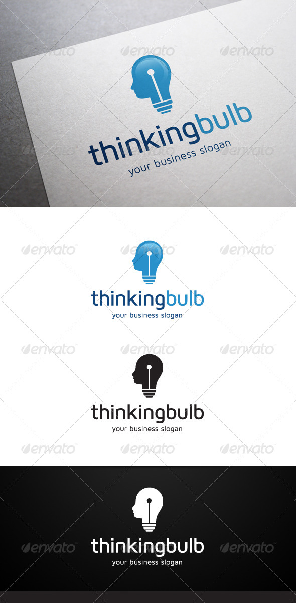GraphicRiver Thinking Bulb Logo 5577009