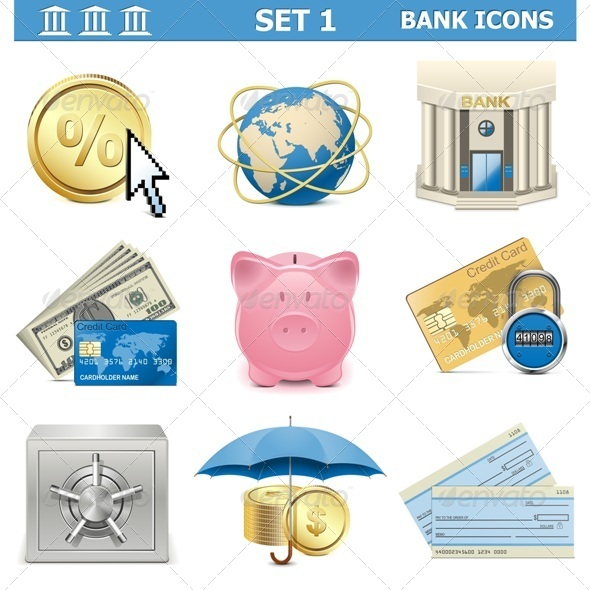 GraphicRiver Vector Bank Icons Set 1 5577296