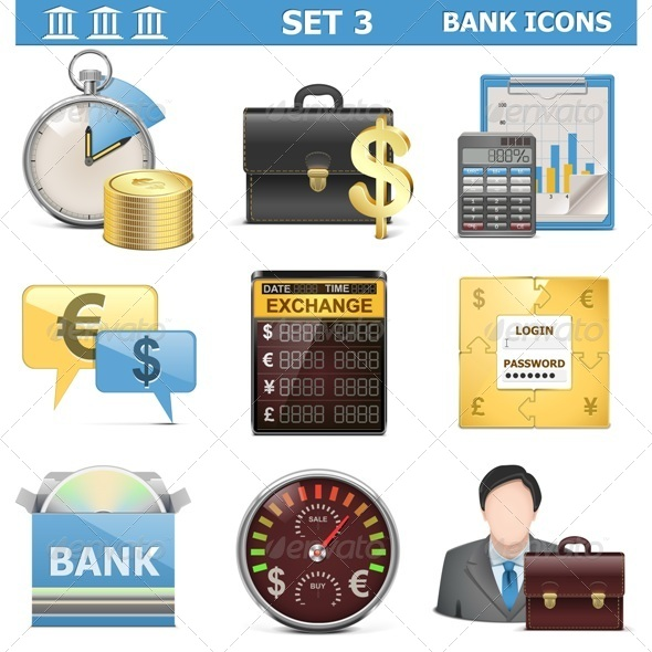GraphicRiver Vector Bank Icons Set 3 5577315