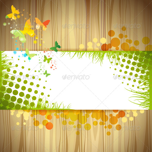 GraphicRiver Background with Butterfly 5577401