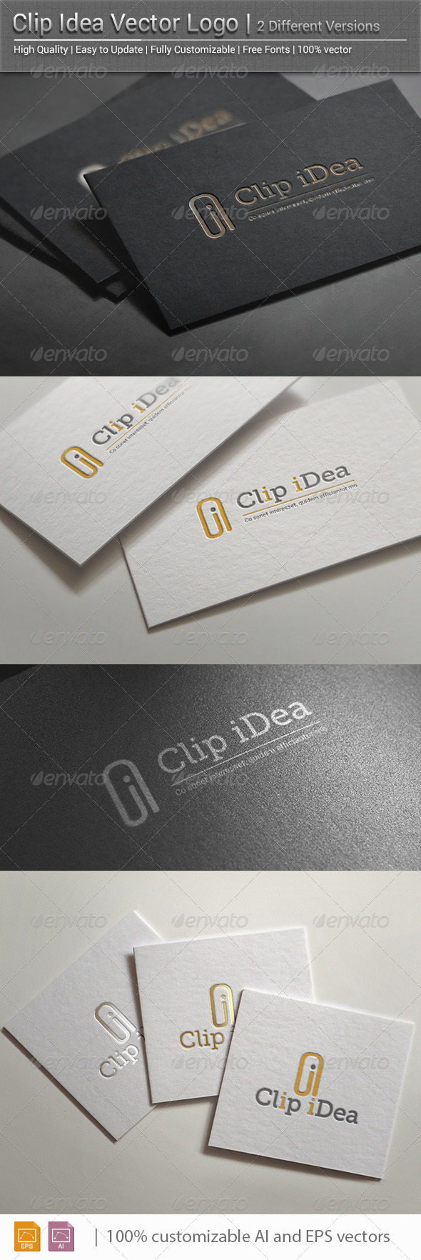 Clip Idea Vector Logo - Vector Abstract