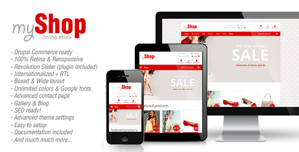 myShop Responsive Drupal Commerce Theme