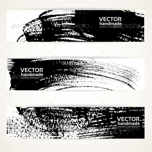 GraphicRiver Brush Texture Handdrawing Banner Set 5577998