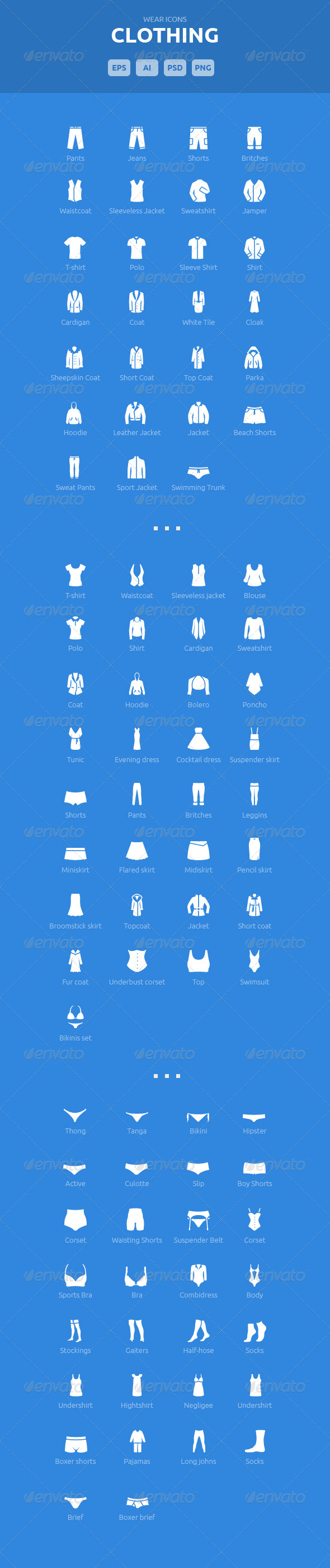 Wear Icons - Clothing Vector Pack