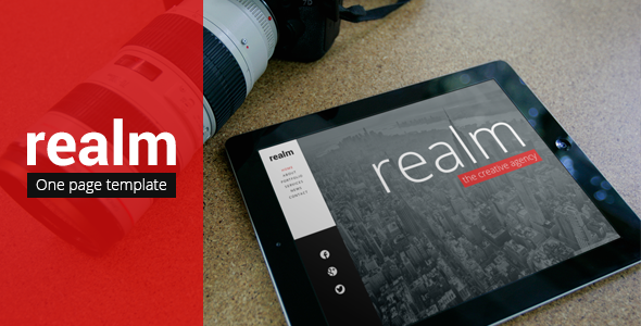 ThemeForest REALM Unique One Page Parallax Responsive HTML5 5578350