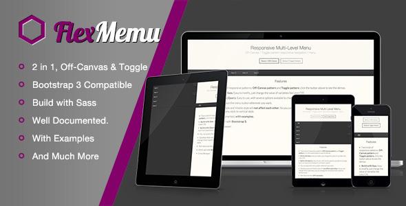 CodeCanyon FlexMenu Responsive Off-Canvas Toggle Navigation 5550510
