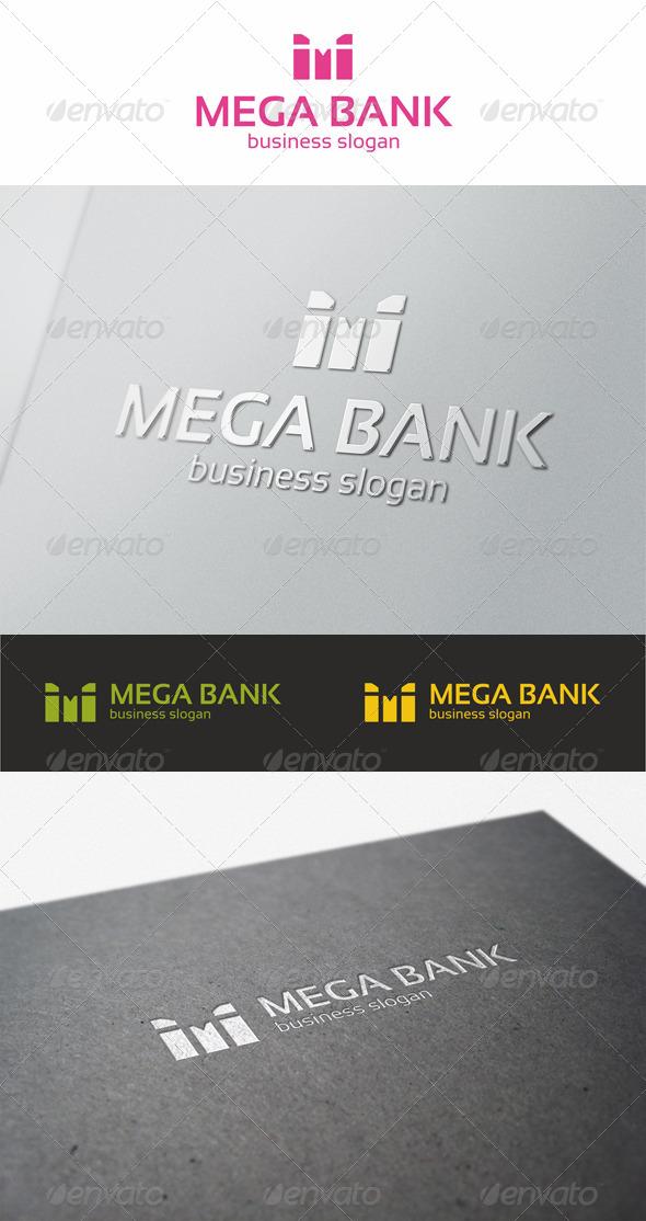 Mega Bank - M Logo - Letters Logo Templates