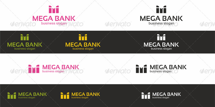 Mega Bank - M Logo