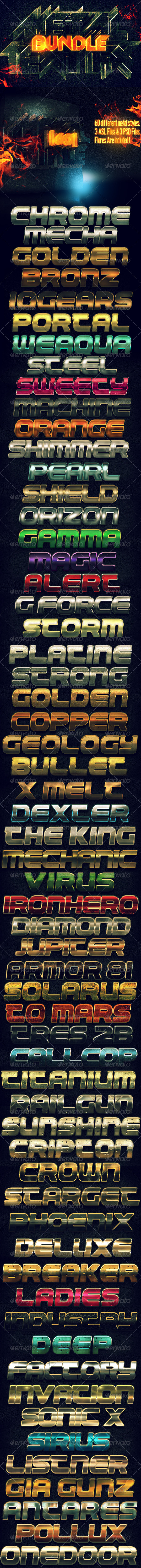 GraphicRiver Metal Text FX BUNDLE 5578655
