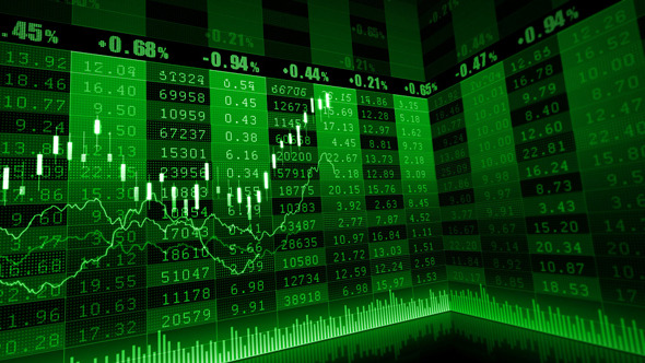 VideoHive Stock Market Green 5530802