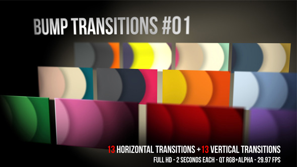 Bump transitions 01 motion graphics videohive 5578886 for Motion graphics transitions
