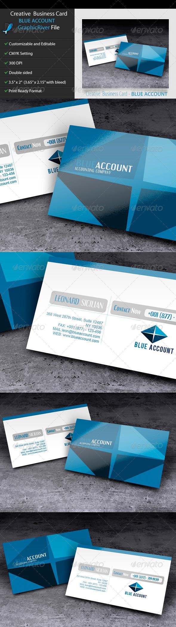 GraphicRiver Creative Business Card BlueAccount 5579457