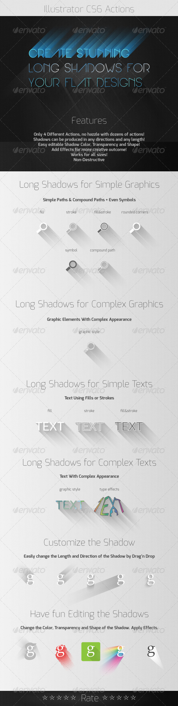 GraphicRiver Long Shadow Actions in Style of Flat Design 5579527