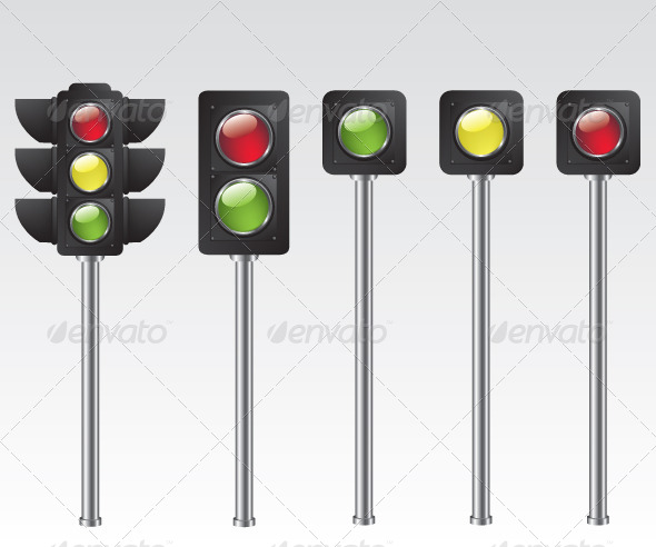 GraphicRiver Traffic Light Illustration 5579910